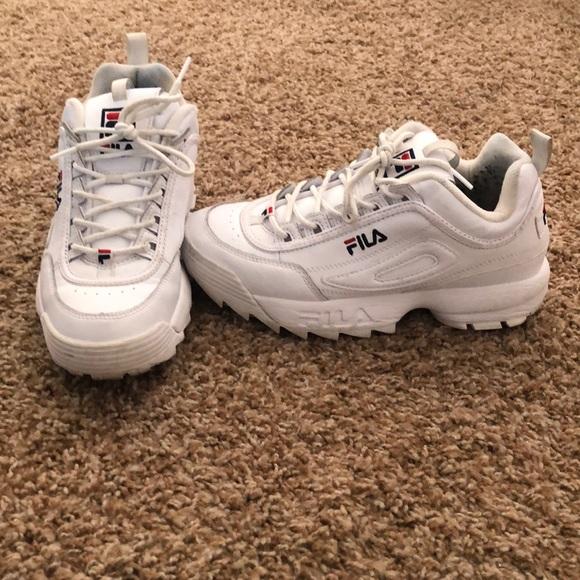 Fila Shoes | Used White Fila Shoes Size